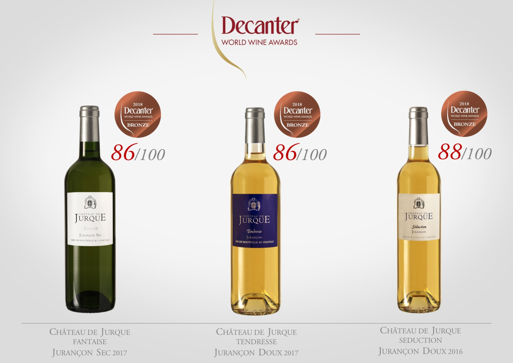 Decanter Awards 2018 - Chateau de Jurque